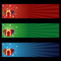 Cristmas Gift Banners Royalty Free Stock Images - 17070109