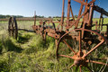 Rusting Old Farm Plough Royalty Free Stock Photo - 17095885