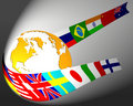 Globe And Flag Abstract Stock Photos - 1716803