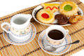 Cup Of Coffee With Cakes Stock Photos - 1719143