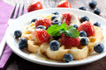Waffle With Strawberries Stock Image - 17123831