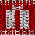 Jumper With Gift Ornament Stock Image - 17125261