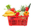 Grocery Shopping Basket Royalty Free Stock Photo - 17135665