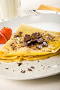 Crepes With Choccolate And Strawberries Stock Photography - 17147742