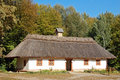 Ancient Hut With A Straw Roof Royalty Free Stock Images - 17156609