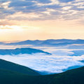Summer Cloudy Sunrise In Mountain Royalty Free Stock Photos - 17163158