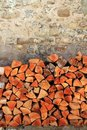 Firewood Wood Pile Stacked Triangle Shape Stock Images - 17170524