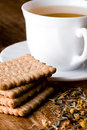 Cup Of Tea And Fresh Cookies Royalty Free Stock Images - 17175349