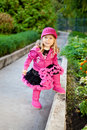 Pretty Girl Dressed In Pink Clothes Stock Photography - 17175802