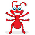 Cute Little Red Ant Royalty Free Stock Photography - 17179317