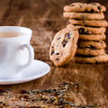 Cup Of Herbal Tea And Some Fresh Cookies Royalty Free Stock Image - 17199646