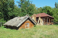 Ancient Barn With A Straw Roof Royalty Free Stock Image - 17202096