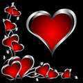 A Red And Silver Hearts Valentines Day Background Stock Images - 17216304
