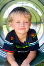Cute Boy In Playground Royalty Free Stock Images - 17217369