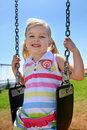 Child On Swing Stock Images - 17217994