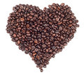 Heart Made With Coffee Beans Stock Image - 17245471