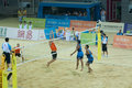 Beach Volleyball Bronze Medal Match Royalty Free Stock Image - 17248246