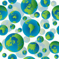 Abstract Seamless Pattern With Earth Globes Stock Photos - 17251383
