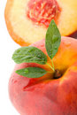 Peach With Leaves Stock Images - 17253224