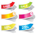 Colorful Arrows And Labels. Royalty Free Stock Photography - 17261297