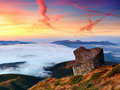 Landscape With A Dawn In Mountains Royalty Free Stock Image - 17264566