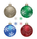 Four Christmas Balls Stock Images - 17269064