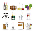 Wine And Drink Icons Royalty Free Stock Image - 17273066