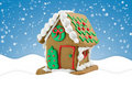 Cute Little Gingerbread House Royalty Free Stock Photography - 17274507