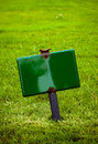 Sign In The Grass Royalty Free Stock Photos - 17277098