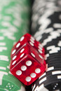 Casino Chips And Dice Royalty Free Stock Images - 17283659