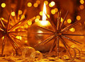 Golden Christmas Candle Royalty Free Stock Images - 17287669