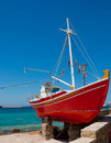 The Famous Red Boat-restaurant With An Octopus Stock Photo - 17303560