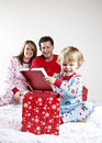 Family On Christmas Morning Royalty Free Stock Photography - 17309637