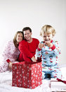 Family On Christmas Morning Royalty Free Stock Photography - 17309647