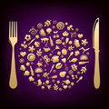 Restaurant Design. Vector Royalty Free Stock Images - 17313039