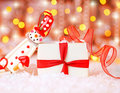 Holiday Background With Cute Snowman Stock Image - 17357211