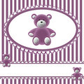 Babies Girls Background With Bear Royalty Free Stock Image - 17360016