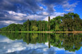 Reflection Of Trees In The River Royalty Free Stock Image - 17362926