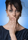 Close-up Portrait Of A Beautiful Surprised Woman Royalty Free Stock Photos - 17366468