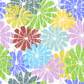 White Seamless Grunge Floral Pattern Stock Images - 17385334