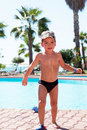 Little Joy Boy Swims In The Sea Royalty Free Stock Images - 17388779