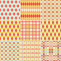 Seamless Patterns Collection In Bright Colors Stock Photography - 17399372