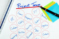 Business Project Team Diagram Stock Image - 17401471