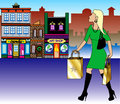 Blond Christmas Shopping Royalty Free Stock Photos - 17417788