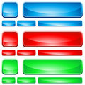 Glass Shapes, Button Royalty Free Stock Image - 17424666