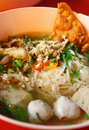 Thai Spicy Noodle In Hot Soup Royalty Free Stock Images - 17428739