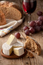 Traditional Normandy Camembert Cheese With Bread Stock Photos - 17431323