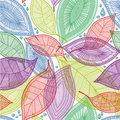 Seamless Abstract Color Leaves Pattern Royalty Free Stock Photography - 17441847