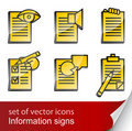 Set Informational Sign Icon Stock Images - 17454294