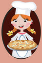 Girl With Pizza Royalty Free Stock Photos - 17456798